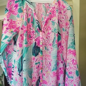 NWOT Lilly Pulitzer button front Elsa top